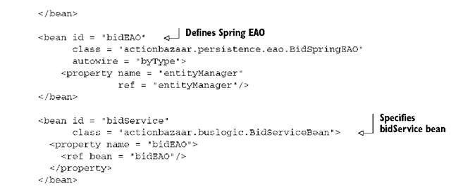 Listing 16.2 Spring configuration to use JPA