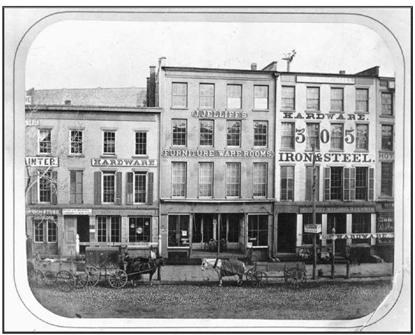 Furniture Warehouse Of Newark Cabinetmaker John Jelliff, Broad Street    Newark, NJ