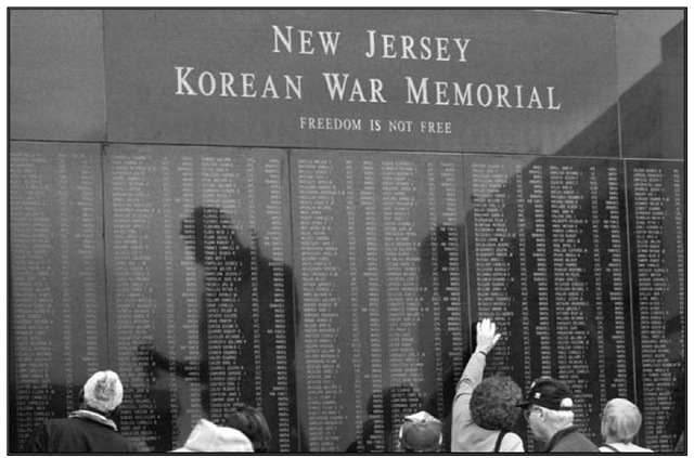 The Korean War Memorial in Atlantic City.