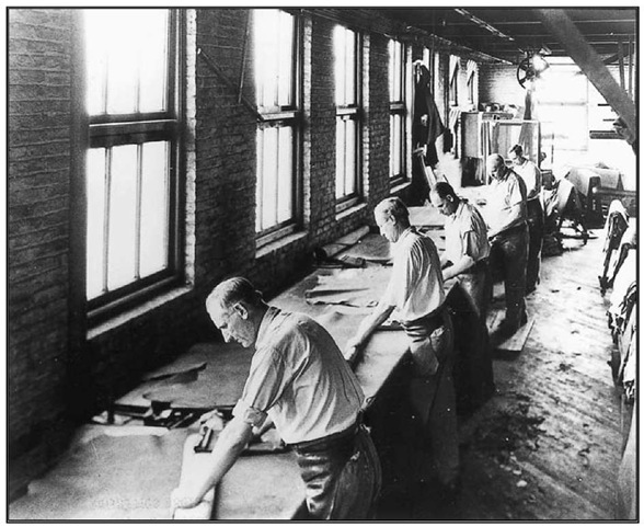 Workers at the John Nieder Tannery, Newark, c. 1890.