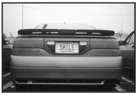 Vanity license plates make driving on New Jersey roads an interesting experience.