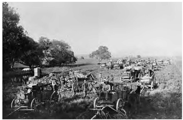 Around the turn of the century, despite widespread local and even national protest, the California Supreme Court ordered all roughly 250 Cupenos to move from their homes at Warner's Hot Springs to the Pala Reservation (Luiseno). Here, the small Cupeno tribe of southern California is shown en route to the Pala Reservation in 1903.