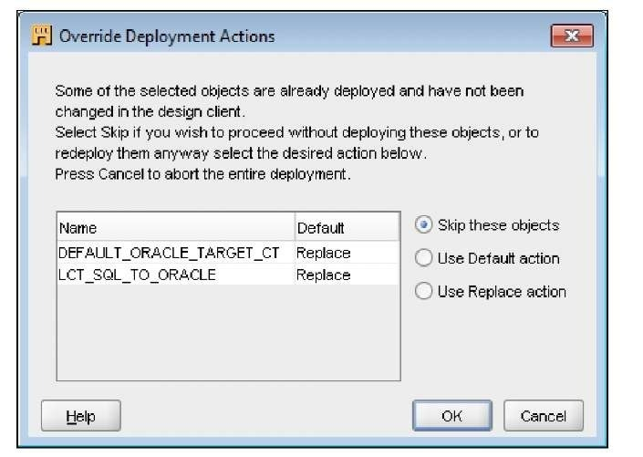 Building a code template mapping Part 3 (Oracle Warehouse