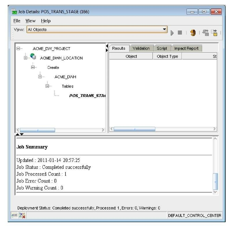 Deploying Part 2 (Oracle Warehouse Builder 11gR2)