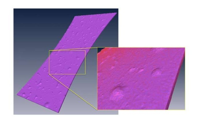 3D view of the volume meshing with quadratic tetrahedrons of the fatigue sample