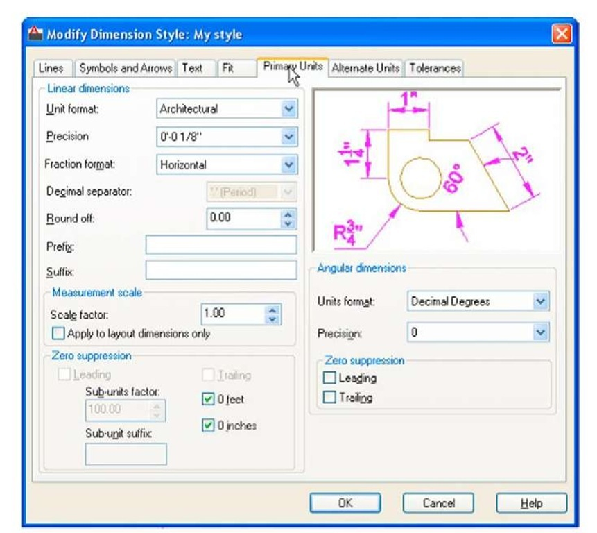how to change imperial to metric in autocad