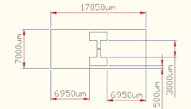 The schematic of the test chip