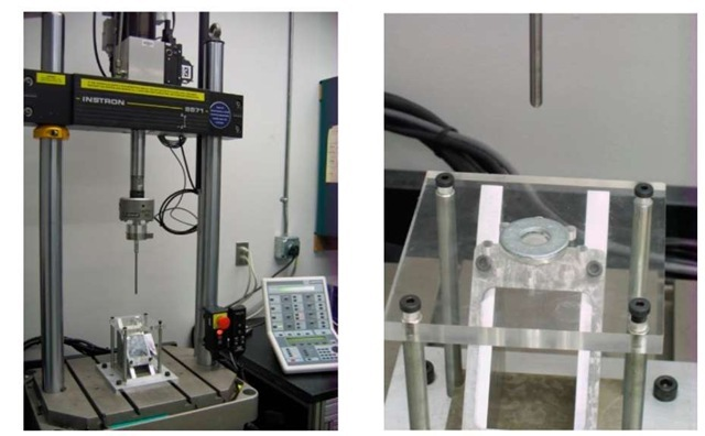 Machine Setup with Accompanied Gel Punch Fixture