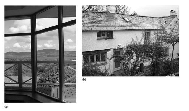 Swedish windows installed (a) in improvement works to flat in Chelmsford, UK; and (b) during the eco-refurbishment of a house in Cumbria, UK.