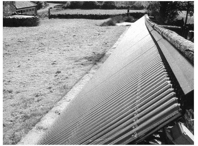 Vacuum tube solar collectors on Professor Tony Marmont's Farm, Nottinghamshire.