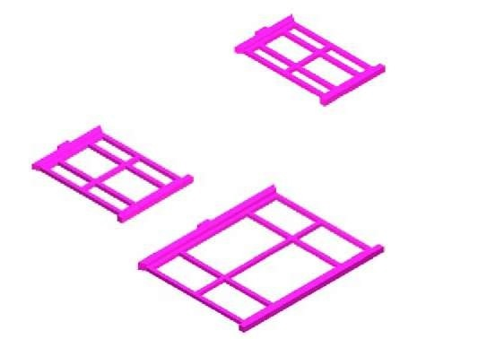 First example - extrusions of the three sizes of windows