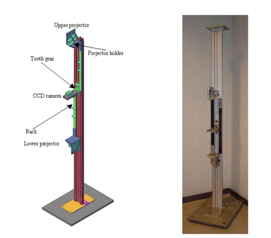 Schematic of the metallic frame realized in order to carry out measurements of out-of-plane displacement