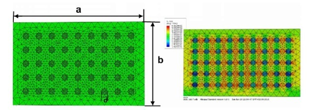 Two-phases of steel matrix reinforced with TiB2 ceramic particles under deformation