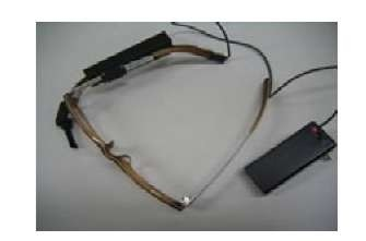 Constantly wearable small see-through type HMD