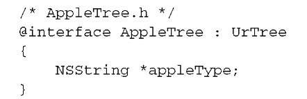 Defining the class of Appletree