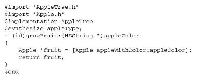 Listing 2.4 AppleTree.m