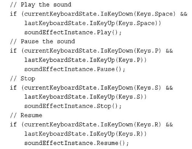 Playing Sound Effects (XNA Game Studio 4 0 Programming) Part 1