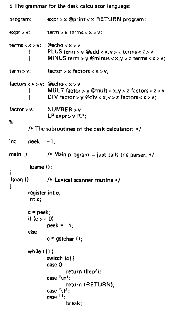 Compiler-Compilers Part 2