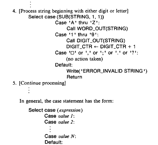 Case Statement Case Statement: Algorithmic Notation (Compiler Writing) Part 1