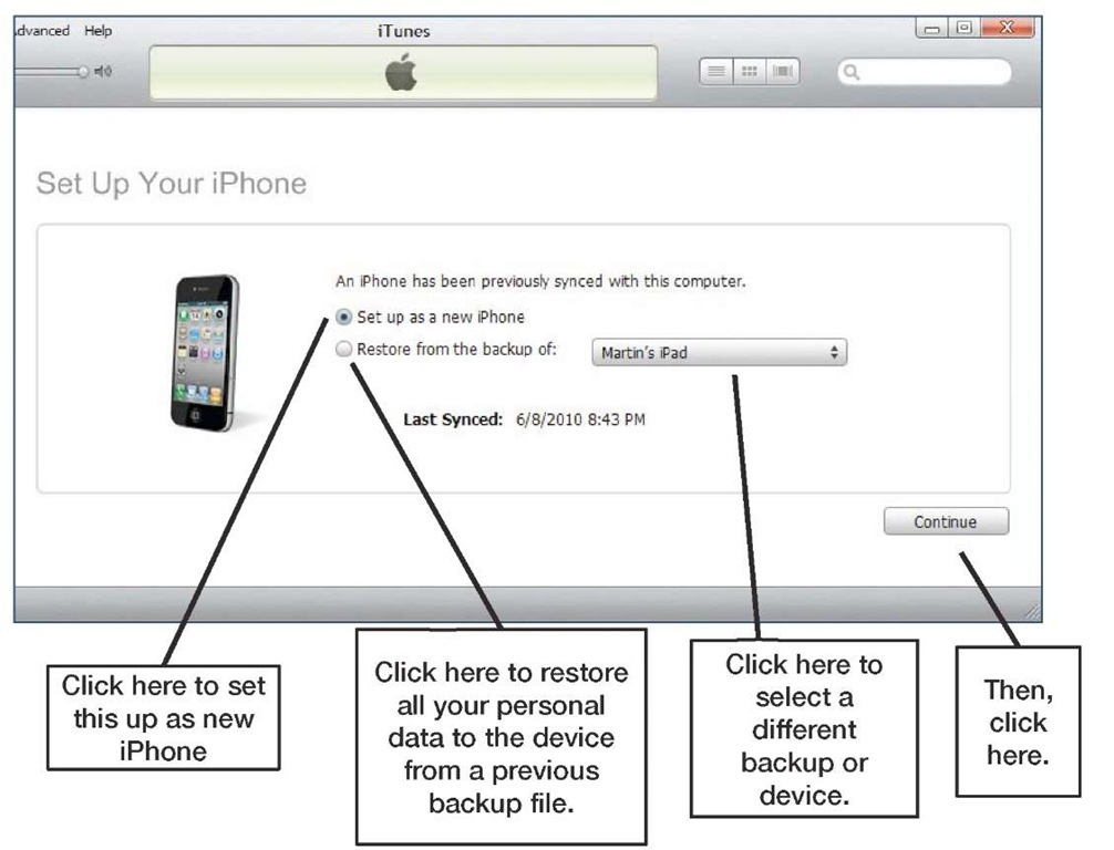 Set Up Your iPhone screen