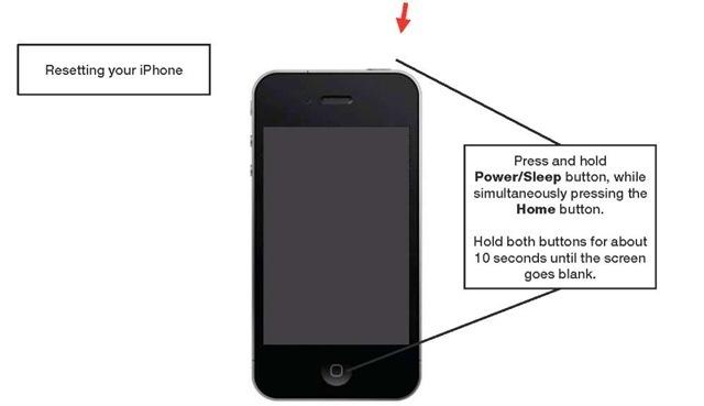 Как сделать полный сброс на айфон 4s