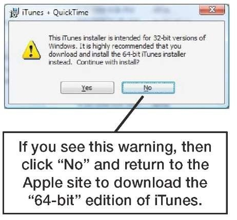 itunes and quicktime for windows 7 64-bit