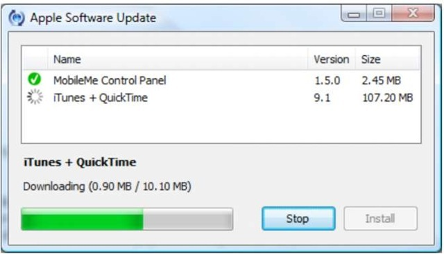 Updating an Existing iTunes Installation (iPhone 4)