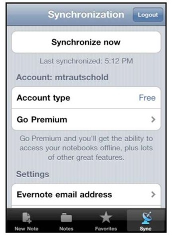 An Alternative Note App: Evernote (iPhone 4)