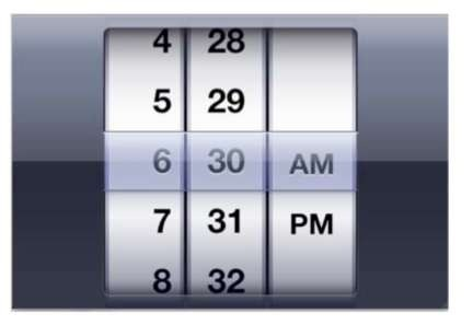 The World Clock App (iPhone 4)