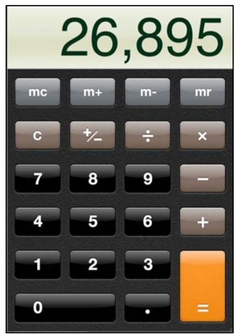 The Calculator App (iPhone 4)