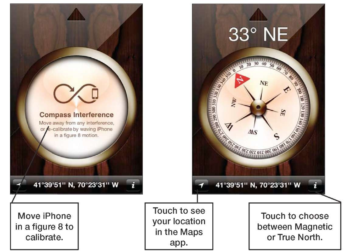 The Compass App (iPhone 4)