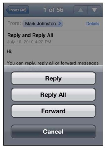 how to delete iphone 4 emails