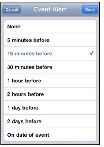Adding New Calendar Events (iPhone 4)