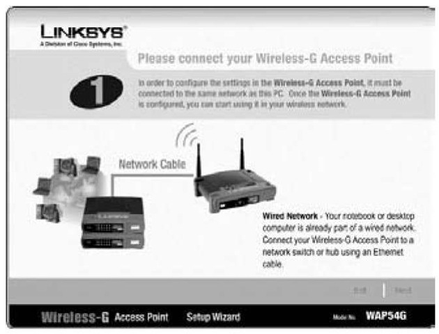 It's time to connect the AP or wireless router.