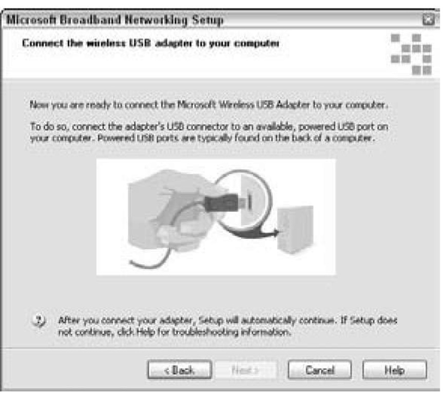 Don't connect your wireless network adapter until prompted by the setup software.
