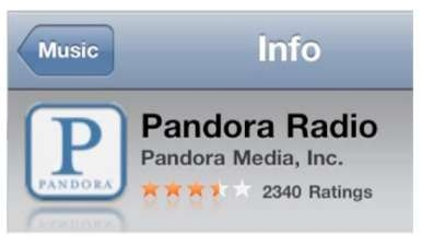 Listening to Free Internet Radio (Pandora) (iPhone 4)