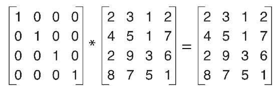 Identity matrix multiply