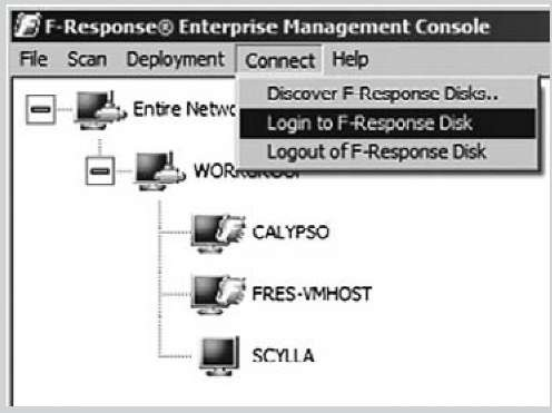 Logging in to F-Response EE via the FEMC User Interface