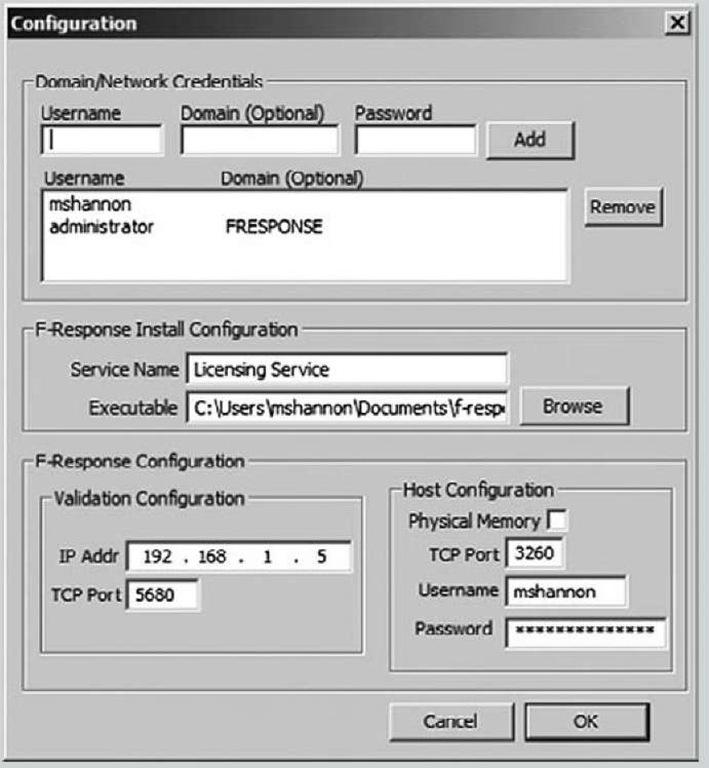 Configuring F-Response EE via the FEMC User Interface
