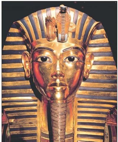 Gold death mask of King Tutankhamun.
