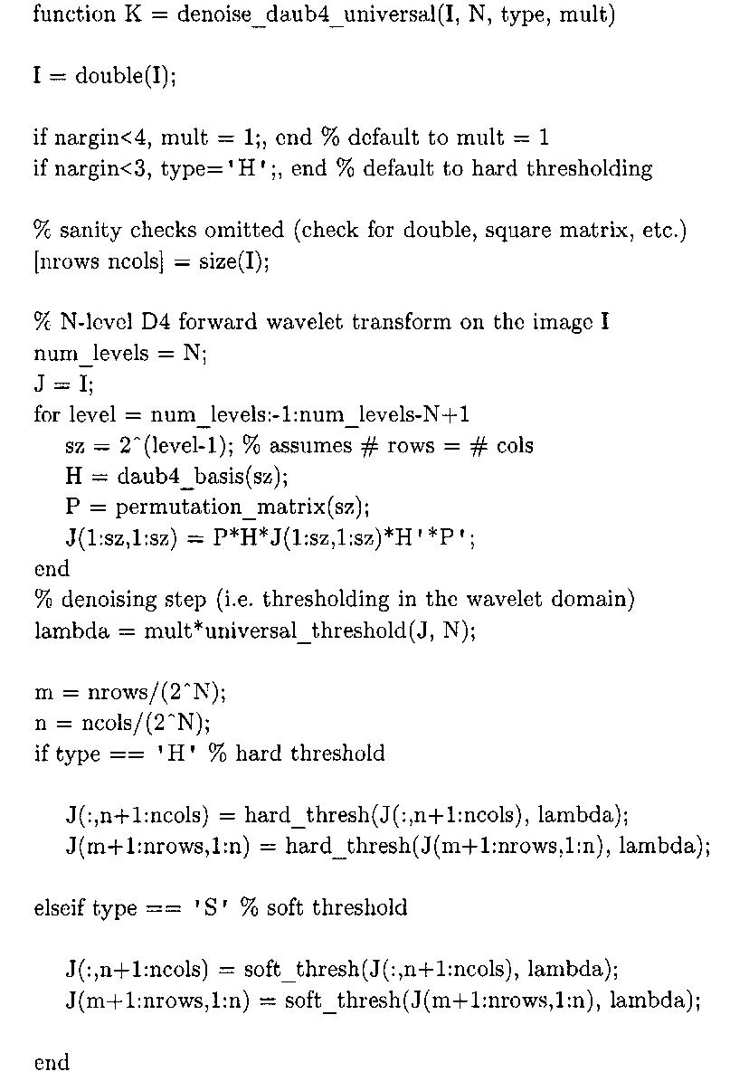Wavelet Demising (Image Processing) Part 1