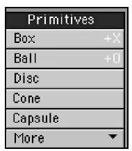 The Primitives category within the Create tab offers a wide range of basic (and some not-so-basic) shapes you can use to create 3D models.