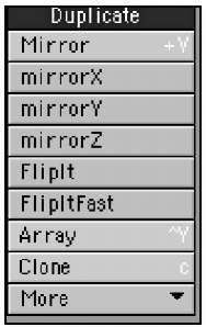 Duplicate tools add to your object or selection by mirroring, cloning, or otherwise copying it.