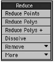 You can use tools in the Reduce category to decrease the number of points or polygons in an object or selection.
