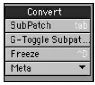 The Convert tool category within the Construct tab gives you the freedom to change—including the ability to change curves to polygons and vice versa.