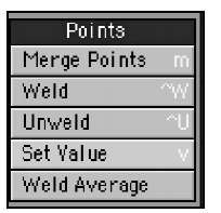 Tools in the Points category give you the power to control the detail of selected points within your models.