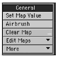 The General category of the Map tab offers basic tools for setting and editing values within vertex maps.