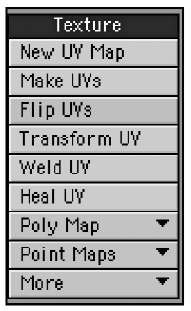 "The Map tab's Texture tools don't affect the actual surface textures of your models; instead, they control UV maps, which ""wrap around"" your model and anchor at the points on its surface."
