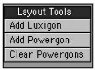 When creating Luxigons or Powergons, you access the tools from the Setup tab.
