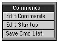 The Commands tool category lets you create your own custom actions for Modeler.